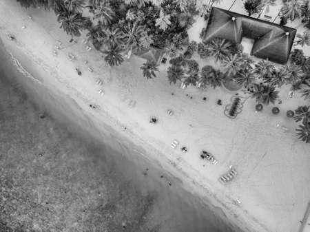 Maldive, aerial view of a spectacular beach.