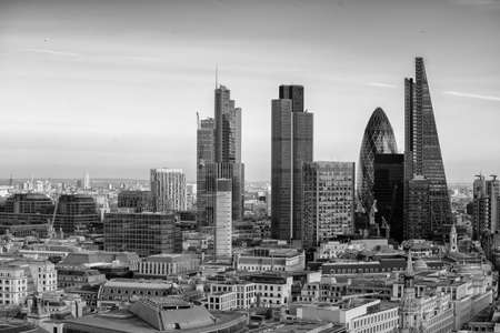 New Skyline of London at sunset. Banque d'images