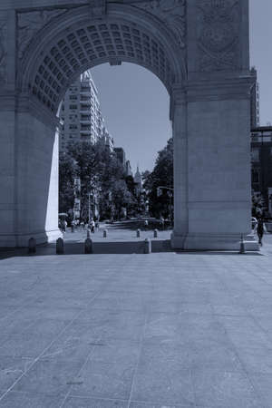 Washington square arch in Manhattan, NYC.