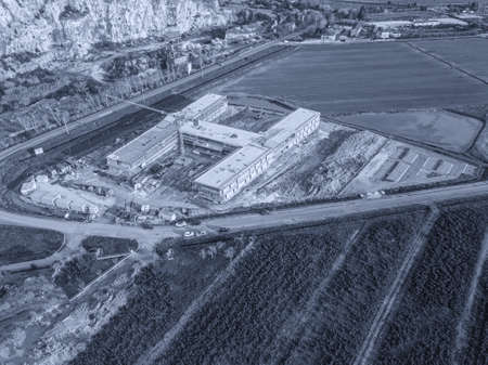 Hospital facility under construction for coronavirus, Covid-19.