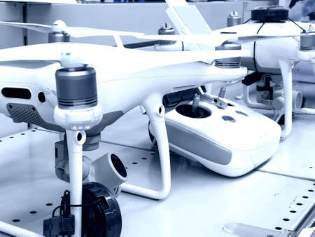 Details and details of some electronic devices: drones. 스톡 콘텐츠