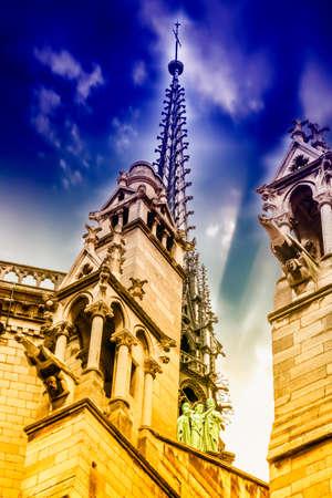 Details of Notre Dame Cathedral, Paris.
