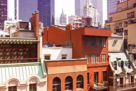 Classic building in Manhattan. 스톡 콘텐츠
