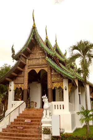 Little old Thai church. 스톡 콘텐츠 - 147767241