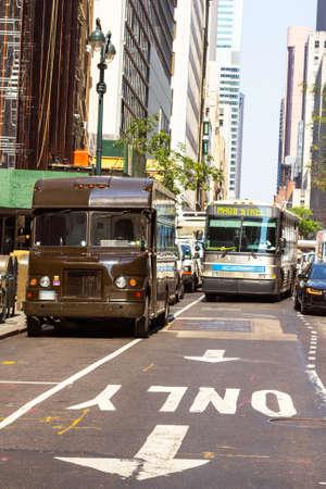 Traffic on Manhattan's street.