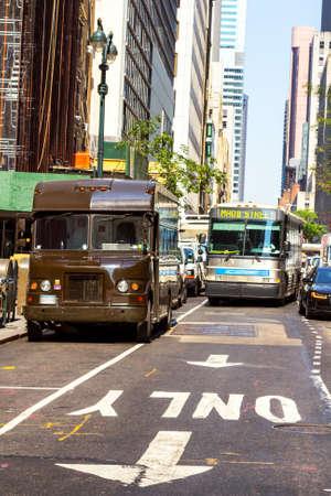 Traffic on Manhattan's street. Archivio Fotografico - 147767441
