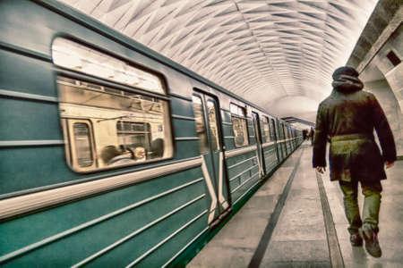 Moscow metro. 스톡 콘텐츠 - 148285354
