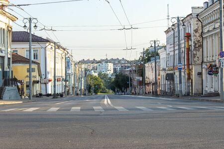 Morning Vladimir city street view Stock Photo