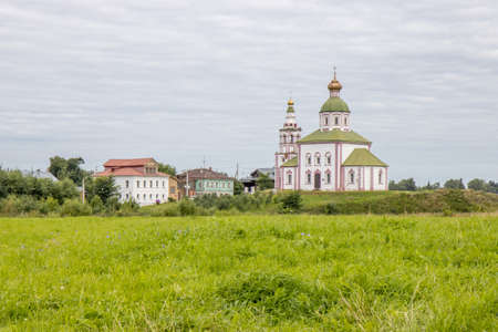 Suzdal, Vladimirskaya oblast / Russia - 08.01.2020: state of restoration of the russian orthodox church in Suzdal city