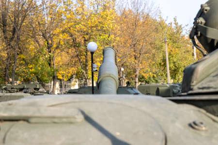 Barrel of army battle tank