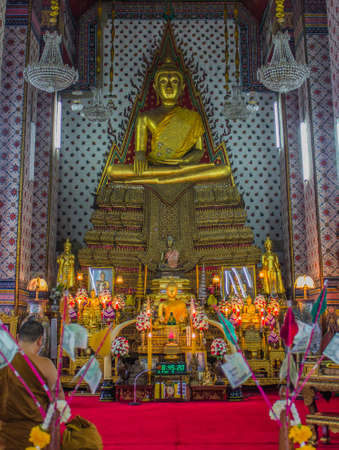 Lord Buddha in Thai temples in churches