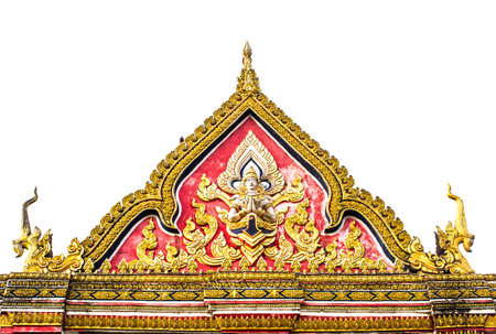 Draw the entrance gate of the temple Thailand  Stock Photo