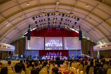 BANGKOK, THAILAND-JUNE9: Bangkok Milal Missionary Choir in the choir celebrated  Noah on June 9, 2013 on board the Ark Christian Thailand in Bangkok, Thailand.