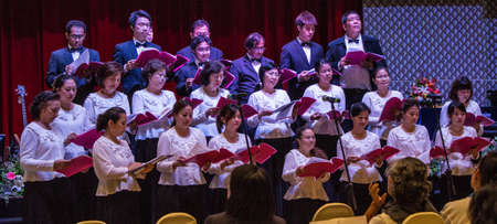 BANGKOK, THAILAND-JUNE9: Bangkok Milal Missionary Choir in the choir celebrated  Noah on June 9, 2013 on board the Ark Christian Thailand in Bangkok, Thailand.