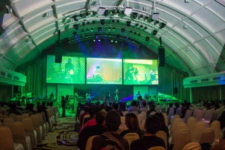 BANGKOK, Thailandia-JUNE9: Concerto del Coro anonimo celebrato No� il 9 giugno 2013 a bordo dell'Arca cristiano Thailandia a Bangkok, Thailandia.