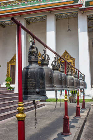 BANGKOK-MARCH 19  Collection of the bells at Thailand temple on March 19, 2556  Bells at temples in Bangkok, Thailand