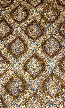 Texture di Golden Modello di arte tradizionale tailandese, Thailandia