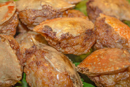 Deep-fried crab meat and minced pork Thai food Stock Photo