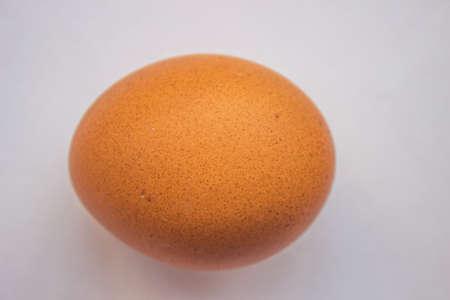 close up of egg on white background Stock Photo