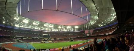 bukit: Sunset before final football match between Johor Darul Takzim and Kelantan