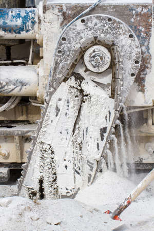 marble quarry, white marble, background marble, texture of stones photo
