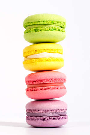 pcs: macarons are on top of each other, in the amount of 4 PCs