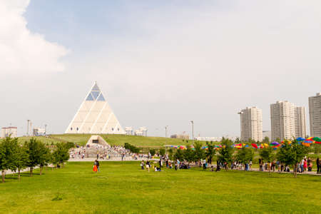 Astana, Kazakhstan - July 6, 2016: the Palace of peace and accord