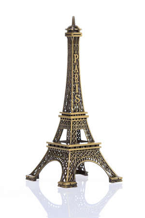 Eiffel tower isolated on white background, clipping path included Stock Photo