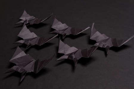 Halloween Background. Black background. Black bats Stok Fotoğraf