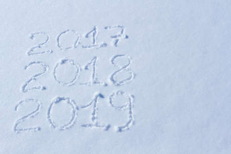 2019 on the snow for the new year and christmas.