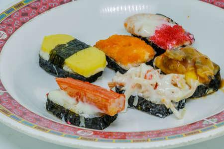 Japanese Sushi on a Chinese dish.