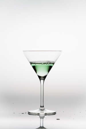 Appletini in a cocktail glass Stock Photo