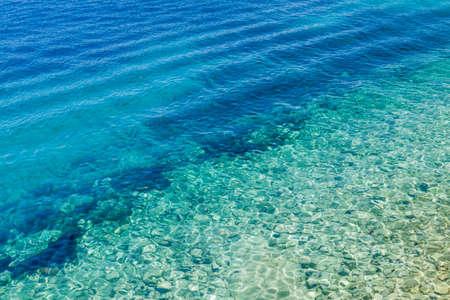 Adriatic sea waves background Stock Photo