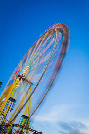 Ferris Wheel in motion blur photo