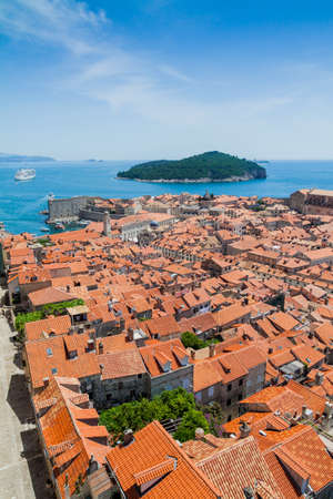 Old Town of Dubrovnik - view from defensive walls photo