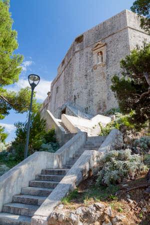 Low angle view of Fort Lovrijenac in Dubrovnik, Croatia