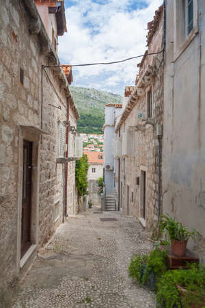 Street in Dubrovnik Old Town Stock Photo