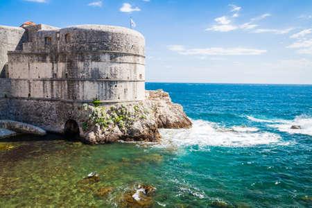 defensive: Defensive wall of Dubrovnik Stock Photo