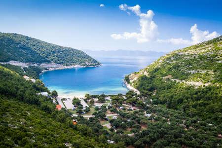 Beautiful view of Croatian bay Stock Photo