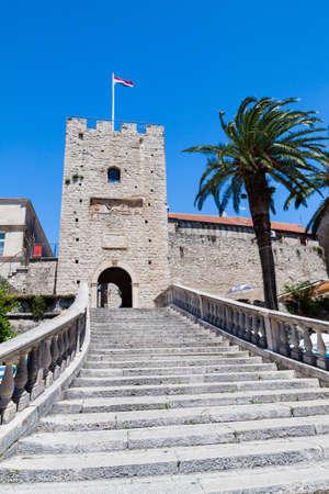 Revelin Tower - main entrance to Korcula Editorial
