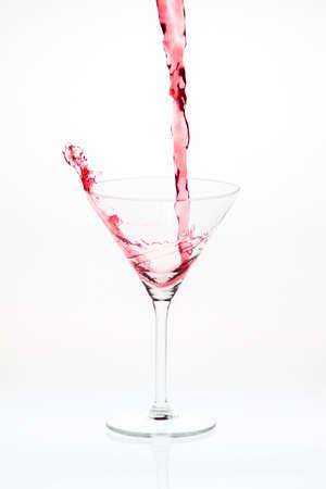 Blended cocktail splash