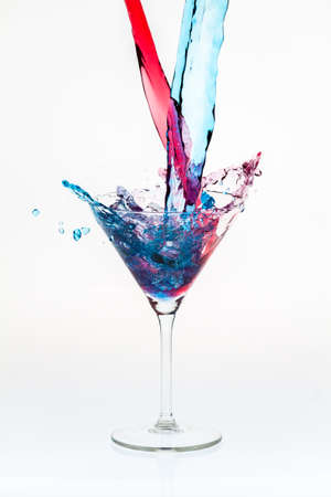 Mixing drinks with a splash photo
