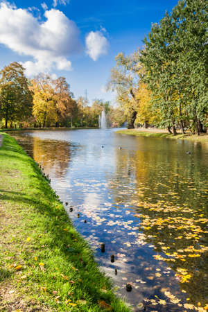 Autumn in a city park Stock Photo