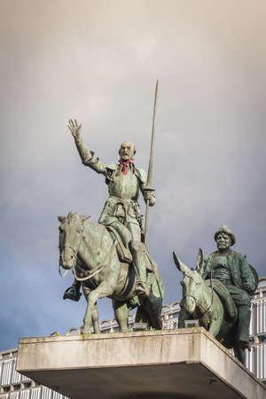 don quijote: Don Quijote estatua en Bruselas