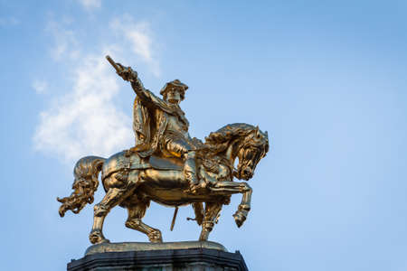 Charles de Lorraine statue in the Grand Place, Brussels