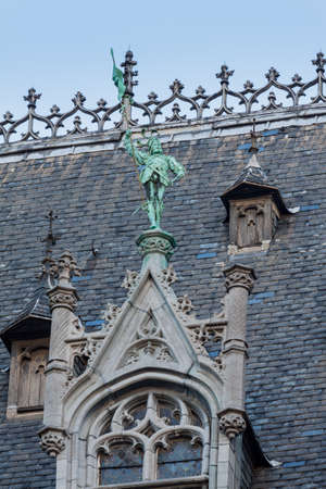 Rooftop architectural details in the Grand Place, Brussels