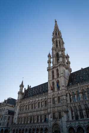 Town hall in the Grand Place, Brussels Stock Photo