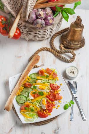 Fresh salad - high angle view