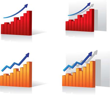 Diagrammatic presentation of profits Illustration