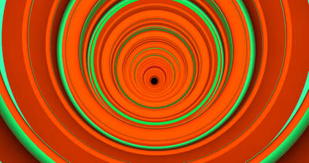 A colorful abstract backdrop of a spiral tunnel. 3D illustration.